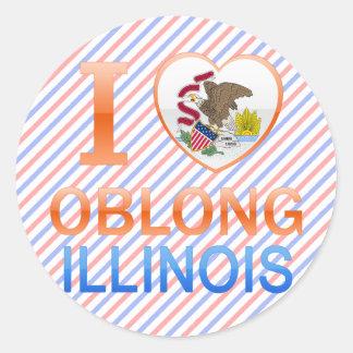I Love Oblong, IL Classic Round Sticker