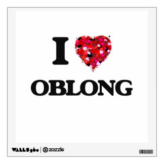 I Love Oblong Wall Skin