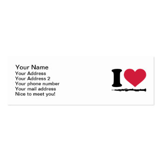 I love Oboe Double-Sided Mini Business Cards (Pack Of 20)