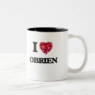 I Love Obrien Two-Tone Coffee Mug