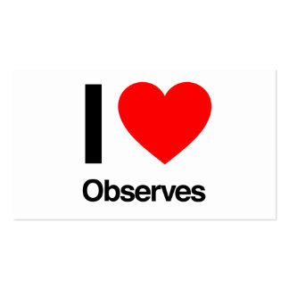 i love observes Double-Sided standard business cards (Pack of 100)