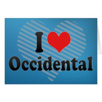 I Love Occidental Greeting Card