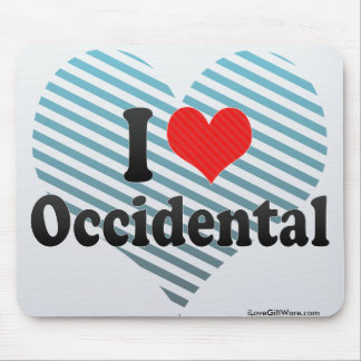 I Love Occidental Mouse Pad