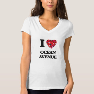 I love Ocean Avenue Massachusetts T-shirts