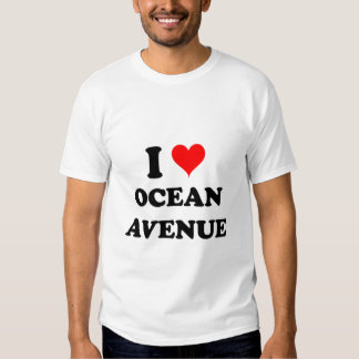 I Love Ocean Avenue Massachusetts Tee Shirt