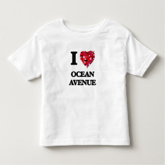 I love Ocean Avenue Massachusetts Toddler T-shirt