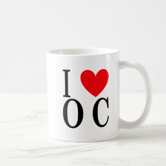 I Love Ocean City Classic White Coffee Mug