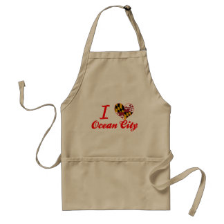 I Love Ocean City, Maryland Adult Apron