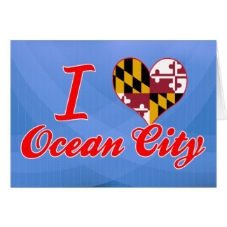 I Love Ocean City, Maryland Greeting Card
