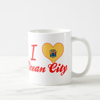 I Love Ocean City, New Jersey Classic White Coffee Mug