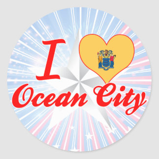 I Love Ocean City, New Jersey Classic Round Sticker