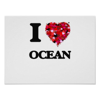 I love Ocean New Jersey Poster