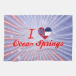 I Love Ocean Springs, Mississippi Kitchen Towel