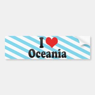 I Love Oceania Car Bumper Sticker