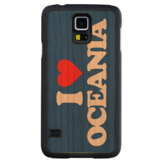 I LOVE OCEANIA CARVED CHERRY GALAXY S5 CASE