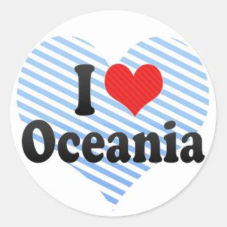 I Love Oceania Classic Round Sticker