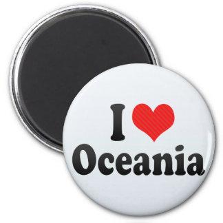 I Love Oceania Fridge Magnets