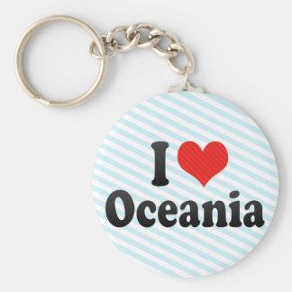 I Love Oceania Keychain