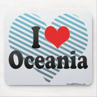 I Love Oceania Mouse Pad