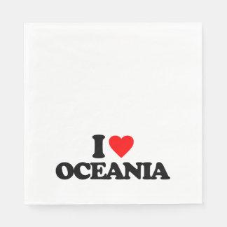 I LOVE OCEANIA PAPER NAPKIN