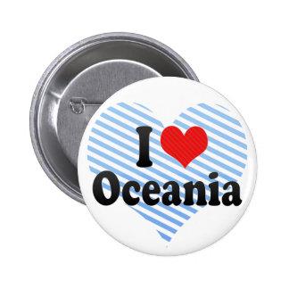I Love Oceania Pins