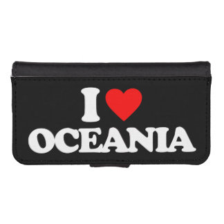I LOVE OCEANIA PHONE WALLET CASES