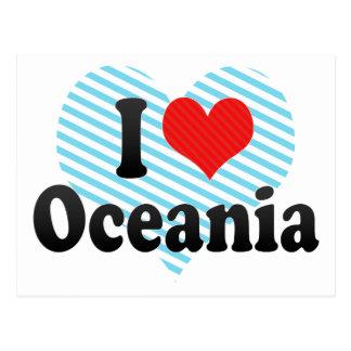 I Love Oceania Postcard