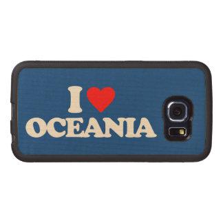 I LOVE OCEANIA WOOD PHONE CASE