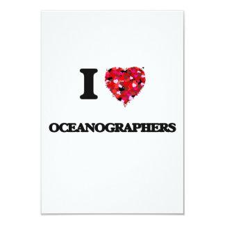 I love Oceanographers 3.5x5 Paper Invitation Card