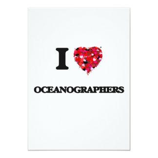 I love Oceanographers 5x7 Paper Invitation Card