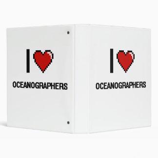 I love Oceanographers Vinyl Binder