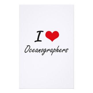 I love Oceanographers Stationery