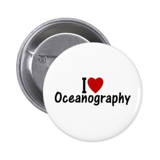 I Love Oceanography Button