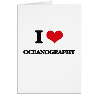 I Love Oceanography Cards