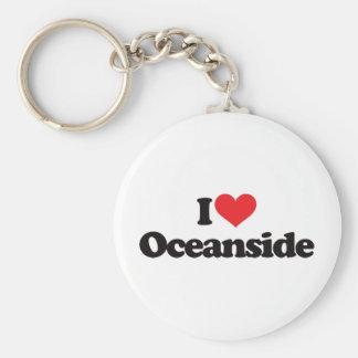 I Love Oceanside Basic Round Button Keychain