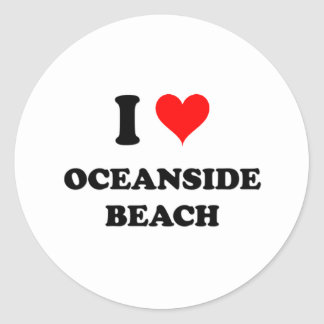 I Love Oceanside Beach California Classic Round Sticker