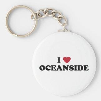 I Love Oceanside California Basic Round Button Keychain