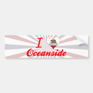 I Love Oceanside, California Car Bumper Sticker