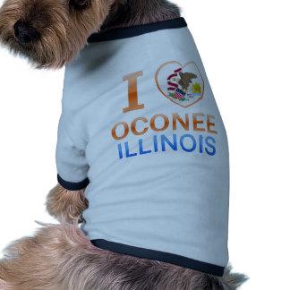 I Love Oconee, IL Dog Clothing