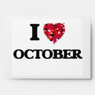 I Love October Envelopes