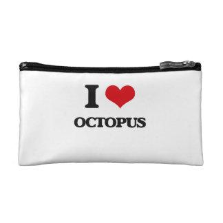 I Love Octopus Cosmetics Bags
