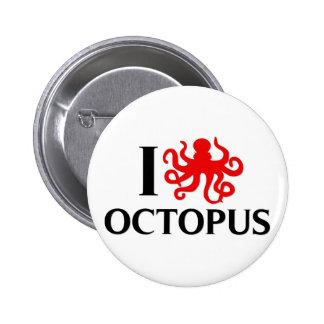 I Love Octopus Pins