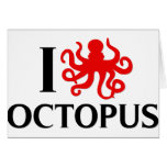 I Love Octopus Greeting Card