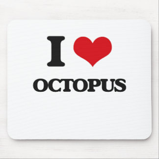 I Love Octopus Mouse Pad