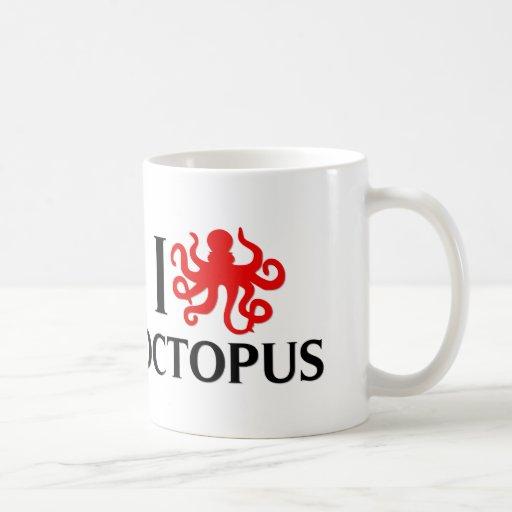 I Love Octopus Mugs