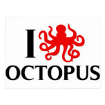 I Love Octopus Post Cards