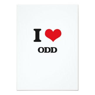 I Love Odd 5x7 Paper Invitation Card