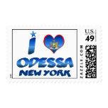 I love Odessa, New York Postage Stamp