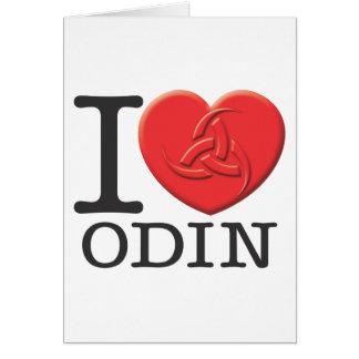 I Love Odin Greeting Card