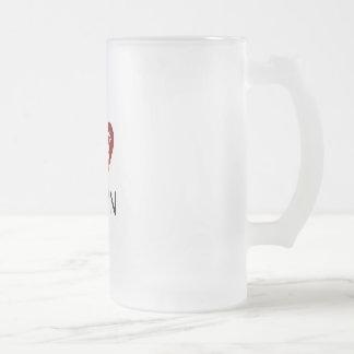 I love Odin Frosted Glass Beer Mug